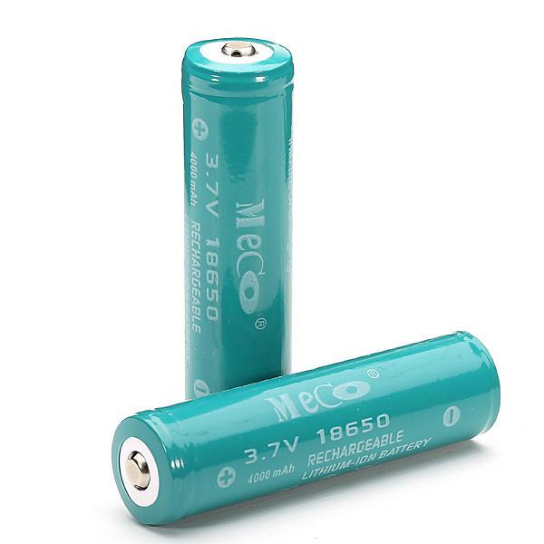 2шт MECO 3.7 В 4000 мАч защищенный аккумулятор 18650 литий-ионный Батарея
