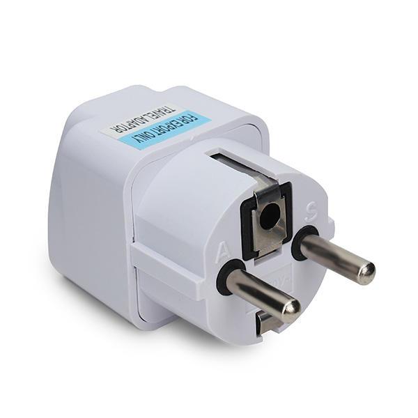 Universal AU US UK to EU Europe Plug AC 250V Power Travel Adapter
