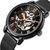 FORSING FSG-660G Lưới thép Đồng hồ cơ khí Đồng hồ đeo tay nam phong cách kinh doanh