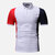 Hombres Color Block Muscle Fit Golf Camisa
