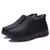 ブーツ男性冬毛皮暖かい靴雪の足首厚みのウィンタースポーツスニーカーコットンレザー