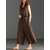 Women Wide Leg Cotton Solid Color V-Neck Sleeveless Jumpsuit with Pockets
