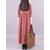 Vintage Kadın Pamuklu Ekose Günlük Uzun Maxi Gömlek Elbise