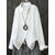 Women Cotton Linen Long Sleeve Side Button Down Loose Casual Blouse