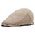 Mens Unisex Cotton England Style Painter Beret Hat Adjustable Sunscreen Newsboy Caps