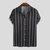 Mens Fashion Colorful Stripe Down Down Collar Casual Sommarskjortor