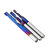 Drillpro 10pcs 3.175 Shank Blue Coated Single Flute End Mill Tungsten Carbide Spiral CNC Milling Cutter 2/2.5/3.175mm