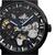 WINNER Fashion Sculpture Mechanical Watch Retro Stainless Steel Strap Men Automatic Watch