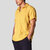 Mens Cotton Summer Shirts Loose Short Sleeve Solid Color T-shirt