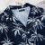 Mens Summer Holiday Loose Palm Tree Printing Hawaiian Shirts