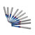 Drillpro 10pcs 0.8-3.175mm Blue NACO Coated PCB Bits Carbide Engraving Milling Cutter For CNC Tool Rotary Burrs