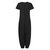 Women Casual Solid Color Short Sleeve Loose Baggy Jumpsuit