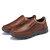 Zapatillas de deporte de cuero Soft para hombres Impermeable al aire libre Zapatos para trabajo informal Zapatos para caminar pesca Zapatos