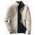 Nam giới Revsersible Thêu Ngực Logo Cotton Zipper Pocket Casual Solid Color Jacket