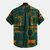 Camisas de henley de verano transpirables impresas de algodón de estilo étnico para hombre