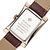 WWOOR 8017 Rectangle Dial Desain Unik Pria Jam Tangan Gaya Bisnis Kuarsa Menontones