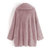 Casual Women Solid Color Fleece Batwing Sleeve Coats with Pockets