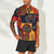 Mens Ethnic Colorful Printing 100% Cotton Short Sleeve Casual Shirts