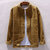 Mens Corduroy Loose Button Fly Vintage Long Sleeve Coats