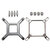 115X Water Cooling CPU Cooler Mounting Bracket Kit for CORSAIR Hydro H60 H80i H100i H110i GT