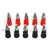 Excellway 10Pcs 4mm Banana Socket Nickel-plated Link Post Nut Banana Plug Jack Connector Red Black