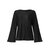 Women Autumn Knitted Bell Sleeve Casual Pullover Sweaters