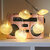 Loskii LED Color Laser String Sea star Shell Marine Battery Power String Light For Family Room Decorative Christmas Party