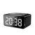 AEC BT508 Wireless Bluetooth Speaker Wireless Charger, USB Charging for Phone Portable Double Alarm Clock FM Radio Subwoofer, Three-range Brightness Adjustment