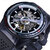 Forsining GMT963 Fashion Men Watch Silicone Band Automatic Casual Mechanical Watch