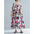 Women Casual Floral Printed O-Neck Short Sleeve Dress