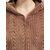 Women's Zip Front Textured Flannel With Hood Long Bathrobe Warm Nightgown