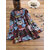 Ethnic Print Patchwork Long Sleeve Button Vintage Blouse