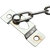 Front Security Door Chain Guard Strong Steel Home Safety Nickle Finish + 4Screws