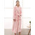 Plus Size Long Sleeve Thicken Longline Couple Flannel Robes Nightgown