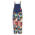Casual Print Patchwork Plus Size Jumpsuit with Pockets