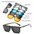 5 इन 1 टीआर -90 पोलराइज्ड मैग्नेटिक ग्लासेस क्लिप ऑन मैग्नेटिक लेंस धूप का चश्मा यूवी-प्रूफ नाइट विज