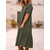 Women Long Sleeve Button Solid Casual Dress