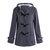Horn Buttons Long Sleeve Hooded Thicken Coats