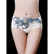 White Floral Print Seamless Low Waist Brethable Briefs