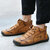 Men Vintage Hand Stitching Soft Business Casual Ankle Boots