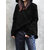 Women Solid Sweatshirt Long Sleeve Asymmetric Hem Coats