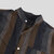 Mens 100% Cotton Retro Stripe Printed Casual Stand Collar Long Sleeve Shirts