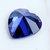 Royal Tanzanite Safir Biru 10x10mm 6.46ct Hati Faceted Cut Dekorasi Batu Permata Longgar
