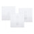 Aodu 433MHz White 1 2 3 Channel 86 Wall Touch Remote Control Switch Wireless RF Transmitter Tempered Glass Panel