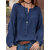 Women Solid Baggy Cotton Autumn Long Sleeve Blouse