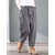Plus Size Vintage Corduroy Solid Color Elastic Waist Pants