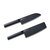 HUOHOU 2PCS/Set  Cool Black Stainless Steel Knife Nonstick Knife Set 7inch Anti-Bacteria Kitchen Chef Knife Slicing Knife From Xiaomi Youpin