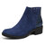 LOSTISY Women Veins Splicing Chunky Heel Casual Ankle Boots