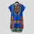 Men's African Short Sleeve T-shirt Dashiki Kaftan Shirt Hippie Poncho Dress Tops