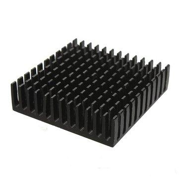 6pcs 40 x 40 x 11mm Aluminum Heat Sink Heatsink Cooling For Chip IC LED Transistor